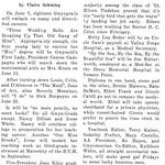 Class of '53 Embark on Varied Careers; President, Secretary are June Brides