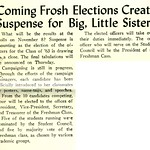 Coming Frosh Elections Create Suspense for Big, Little Sisters