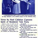 Verse by Noel Callahan Captures p Spirit of Residents Yule Party
