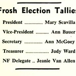 Frosh Election Tallies