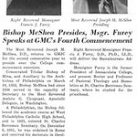 Bishop McShea Presides, Msgr. Furey Speaks at GMC's Fourth Commencement