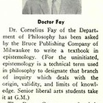 Doctor Fay to Write Philosophy Textbook