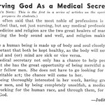 Serving God As a Medical Secretary